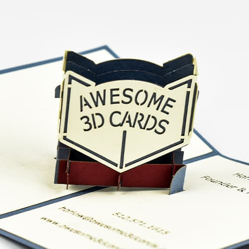 Mini Awesome 3D Card Logo