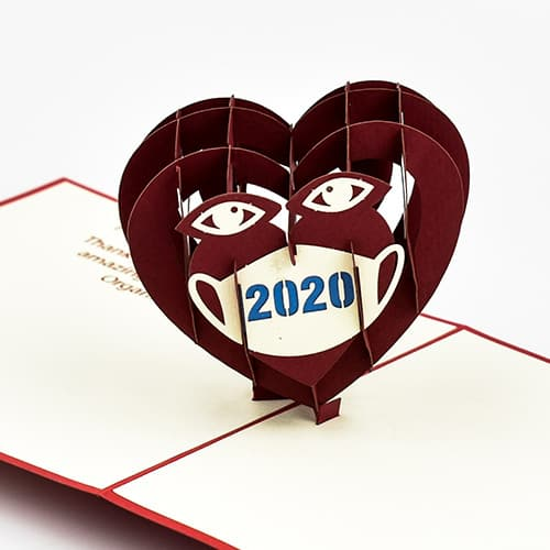 Valentine Heart with Covid-19 Mask