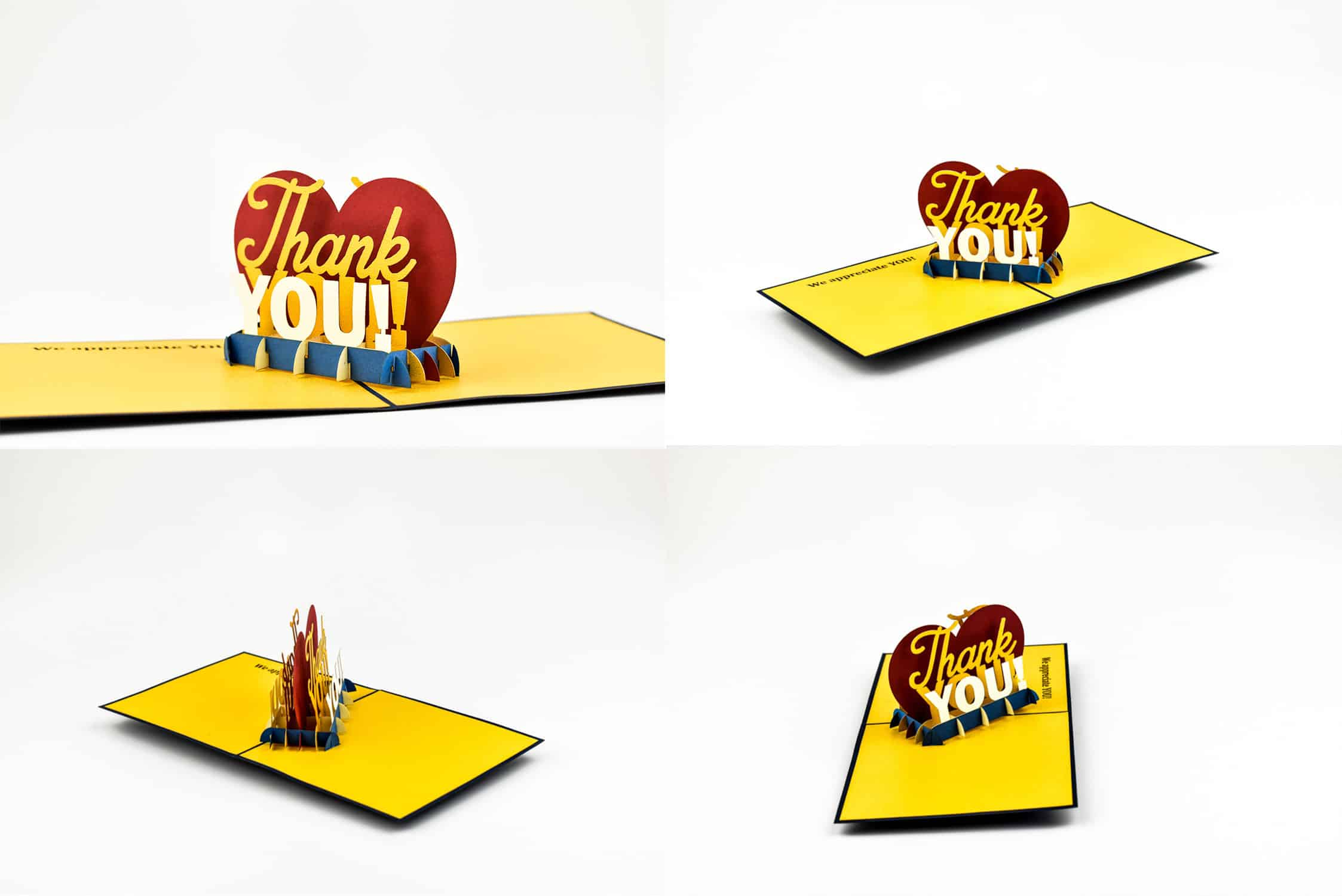 Thank You card images.